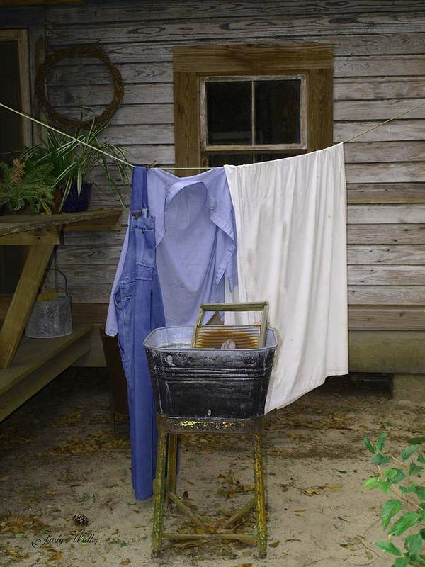 Wash Day Art Print featuring the photograph Wash Day by Judy Waller