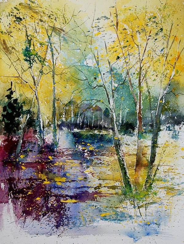 Pond Art Print featuring the painting Watercolor 280809 by Pol Ledent