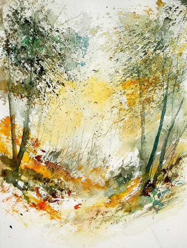 Tree Art Print featuring the painting Watercolor 908021 by Pol Ledent