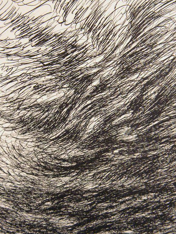 Landscape Art Print featuring the drawing Weighty by Uwe Schein