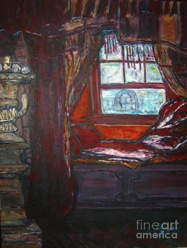 Windowseat Art Print featuring the painting Wilhelmina's Windowseat by Helena Bebirian