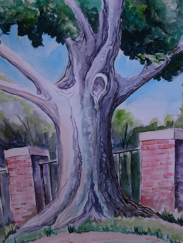 Landscape Art Print featuring the painting Wortham Oak by Paul Choate