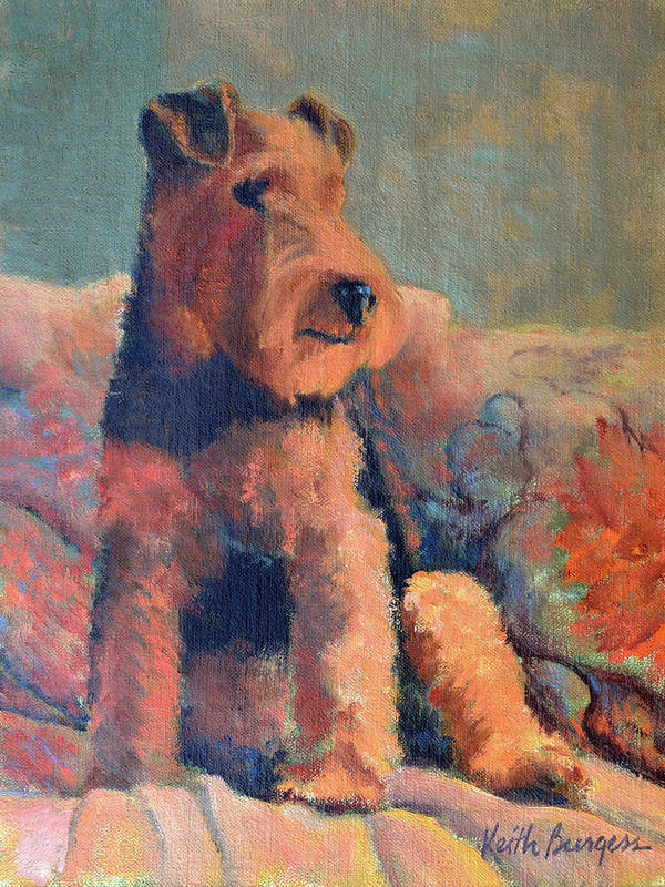 Pet Art Print featuring the painting Zuzu by Keith Burgess