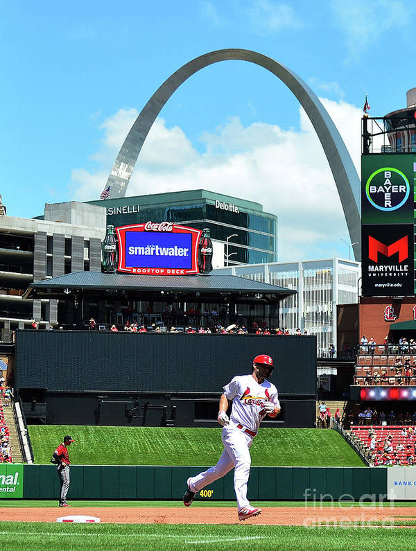 St. Louis Cardinals Art Print featuring the photograph Arizona Diamondbacks V St Louis 1 by Jeff Curry