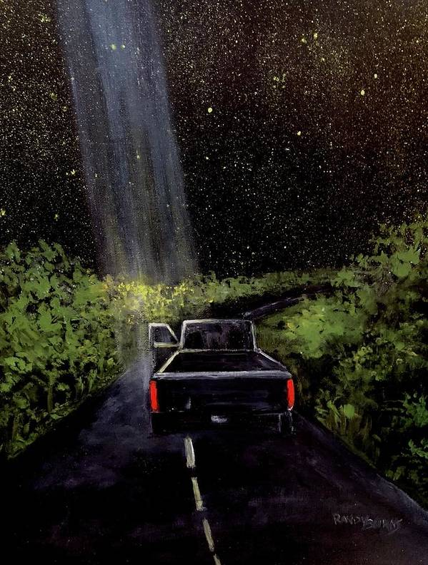 Ufo Art Print featuring the painting Beam by Randy Burns