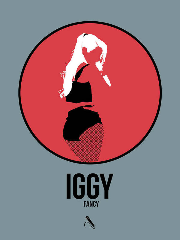 Collection Of The Minimalist Music Posters. Simple And Clean Design Themes Celebrate A Variety Of Music Artists As Well As Classical Composers. Please Visit Us At Www.naxart.com To See More Art Art Print featuring the digital art Iggy Azalea by Naxart Studio