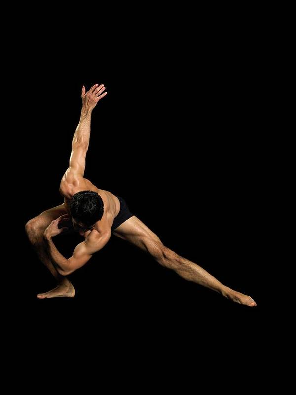 Human Arm Art Print featuring the photograph Male Dancer Performing by Image Source