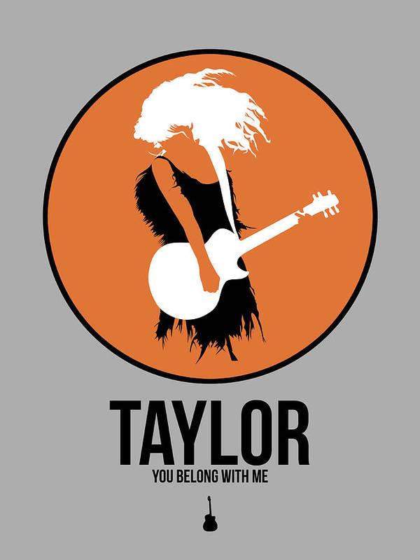 Art Print featuring the digital art Taylor Swift by Naxart Studio