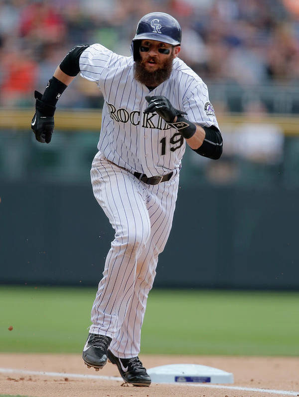 People Art Print featuring the photograph Charlie Blackmon by Doug Pensinger