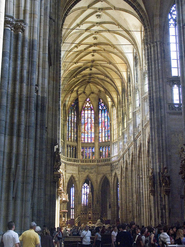 St. Vitus Art Print featuring the photograph St Vitus Cathedral by Charles Ridgway