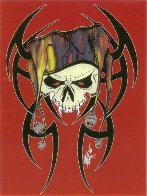 Skull Art Print featuring the print Tribal Skull by Kimberly Morgan