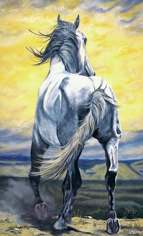 Horse Art Print featuring the painting The Last Stand by Melody Perez