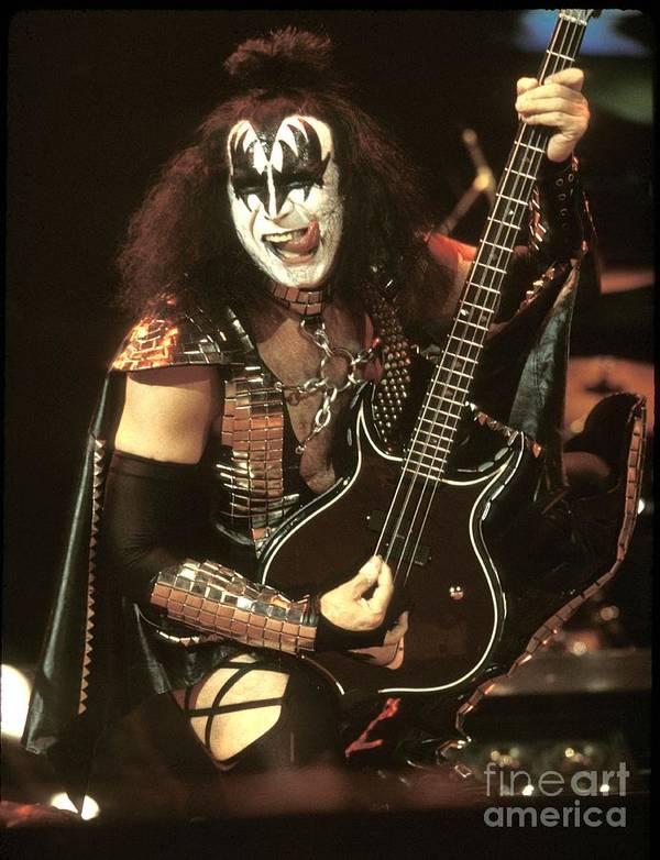 Hard Rock Art Print featuring the photograph Kiss - Gene Simmons by Concert Photos