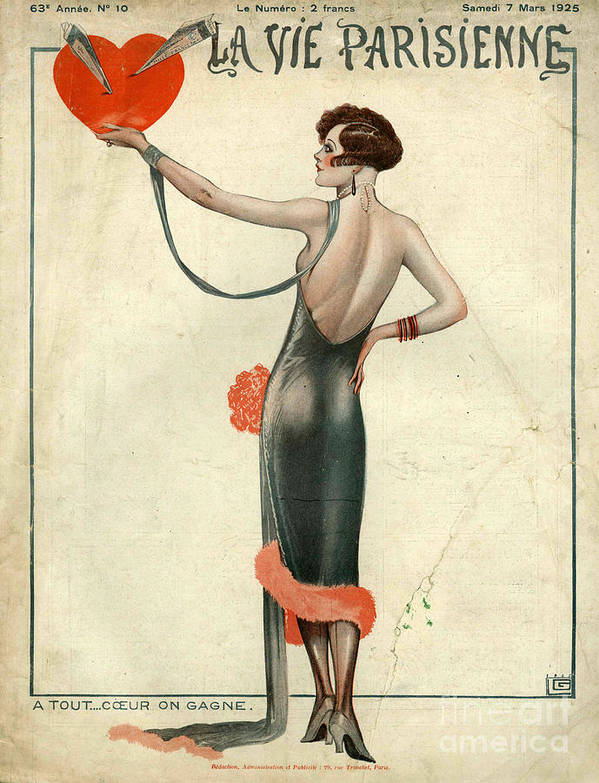 1920�s Art Print featuring the drawing La Vie Parisienne 1925 1920s France by The Advertising Archives
