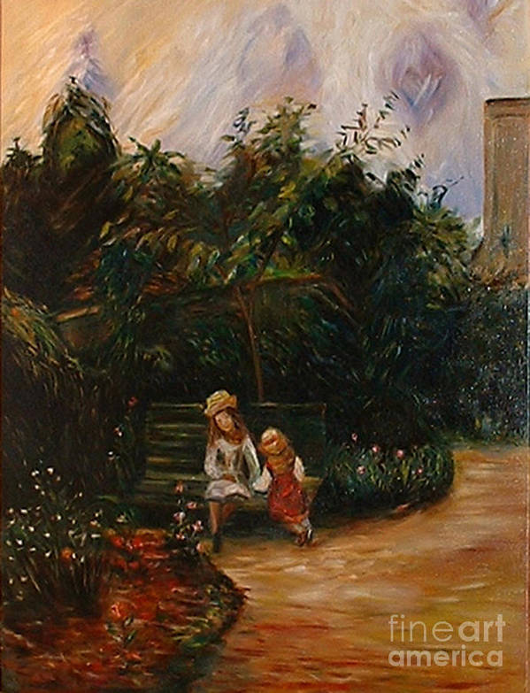 Classic Art Art Print featuring the painting A Corner Of The Garden At The Hermitage by Silvana Abel