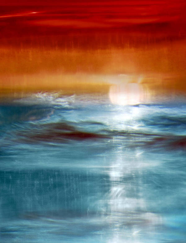 Abstract Art Print featuring the photograph Abstract Seascape by Natalie Kinnear