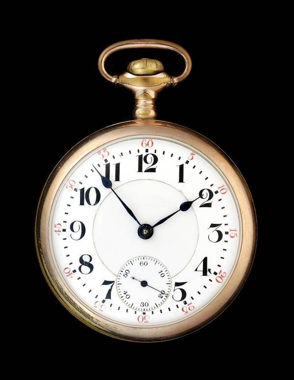 Pocketwatch Art Print featuring the photograph Antique Gold Pocketwatch by Jim Hughes