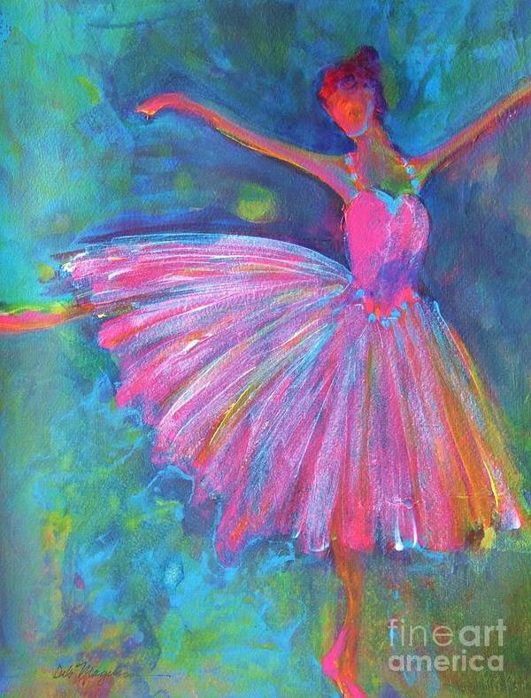 Acrylic Paintings Of Dancers Art Print featuring the painting Ballet Bliss by Deb Magelssen