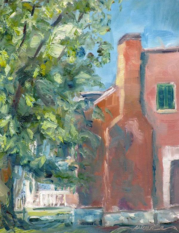 Carnton Art Print featuring the painting Carnton Plantation On A Spring Morning by Susan E Jones