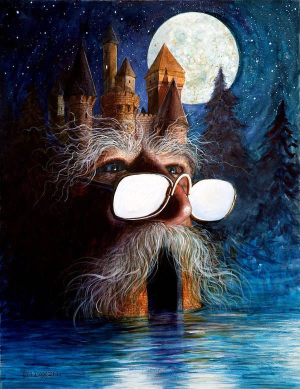 Fantasy Creatures Art Print featuring the painting Casolgye by Frank Robert Dixon