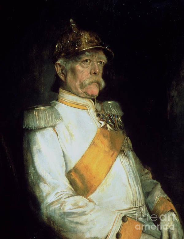 Chancellor Otto Von Bismarck Art Print featuring the painting Chancellor Otto Von Bismarck by Franz Seraph von Lenbach