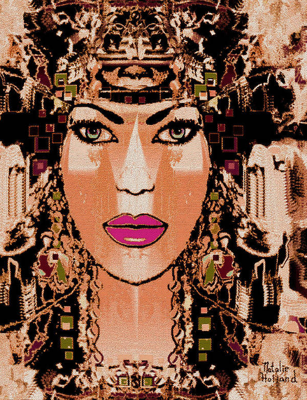 Cleopatra Art Print featuring the mixed media Cleopatra by Natalie Holland