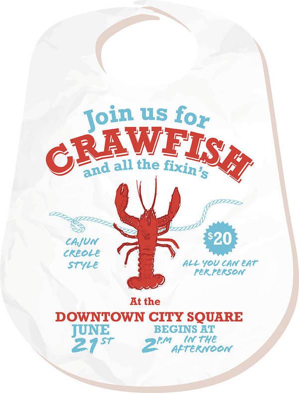 Crawfish Boil Invitation Design Template On White Background Art