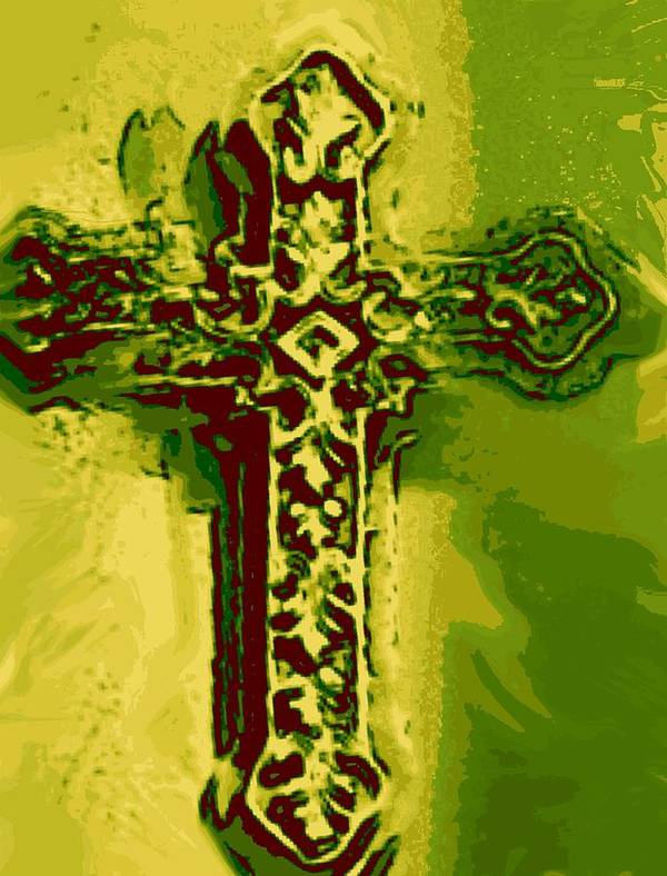 Easter Art Print featuring the digital art Cross by Landry McKee