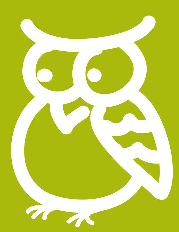 Owl Art Print featuring the digital art Cute Owl Nursery Print by Nursery Art