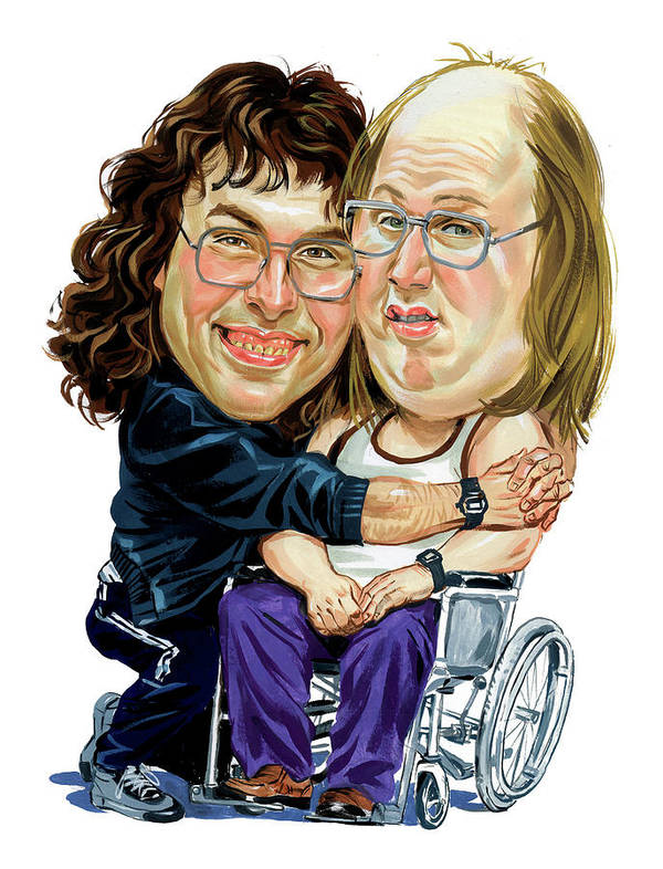 David Walliams Print featuring the painting David Walliams And Matt Lucas As Lou And Andy by Art