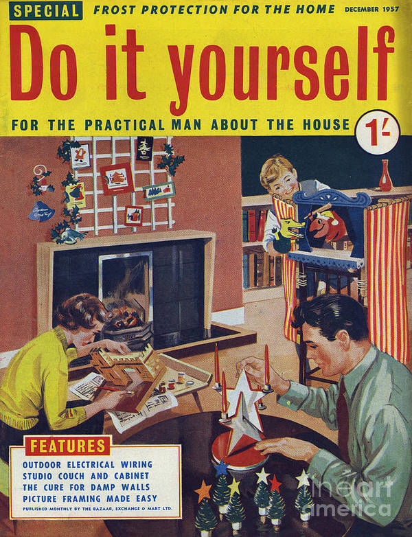 Do It Yourself 1957 1950s Uk Diy Art Print By The Advertising Archives