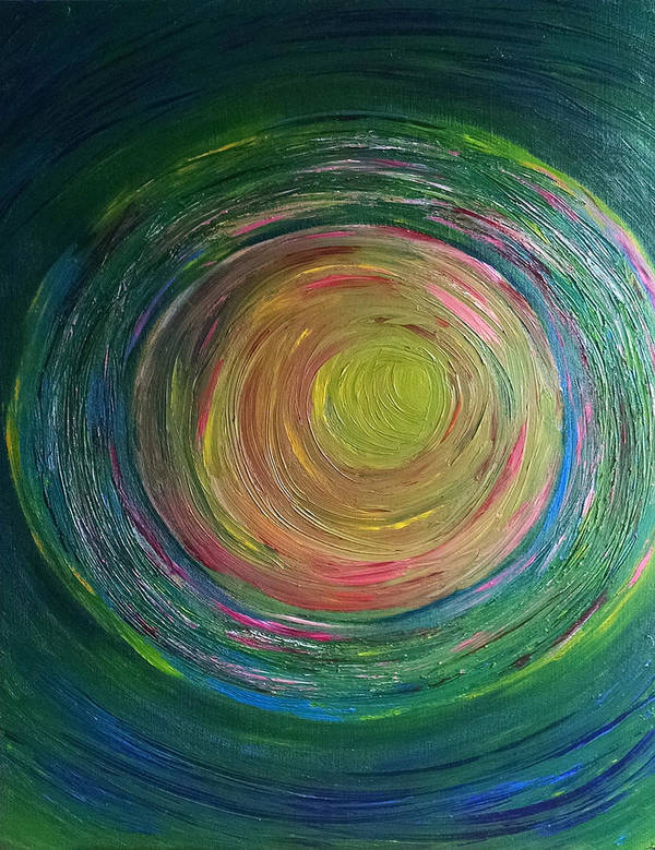 Channeled Art Print featuring the painting Eclipse Of Time by Daina White