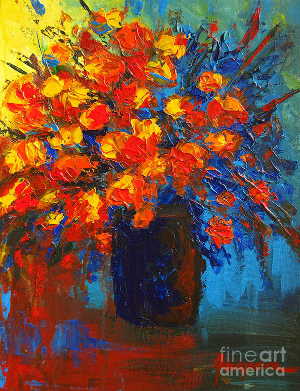 Flower Art Print featuring the painting Flowers Are Always Welcome IIi by Patricia Awapara