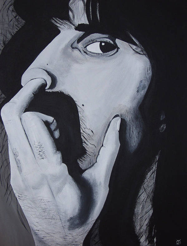 Black And White Art Print featuring the painting Franklyz by Dean Stephens