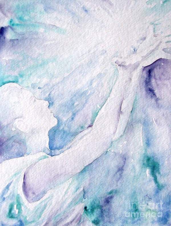 People Art Print featuring the painting Give And Receive by Jennifer Apffel