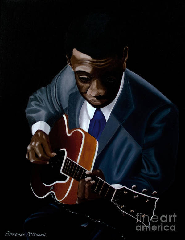 Jazz Art Print featuring the painting Grant Green by Barbara McMahon