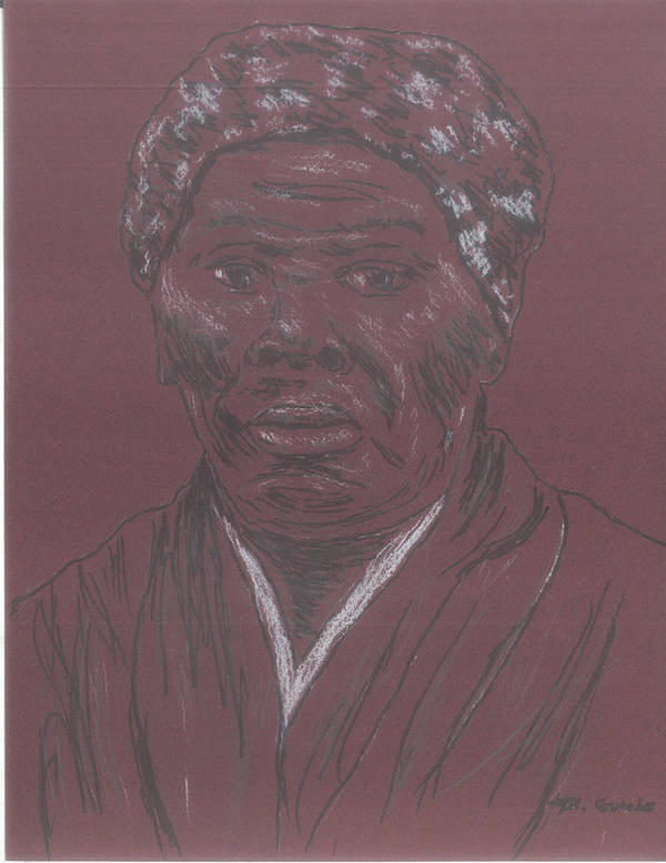 Abolitionist Art Print featuring the drawing Harriet Tubman by Bob Gumbs