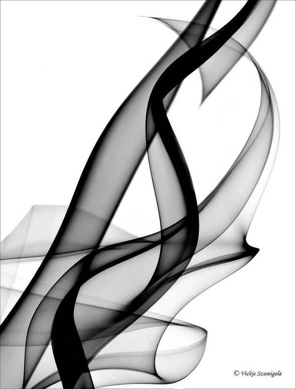 Smoke Art Print featuring the photograph Hidden Heart by Vickie Szumigala