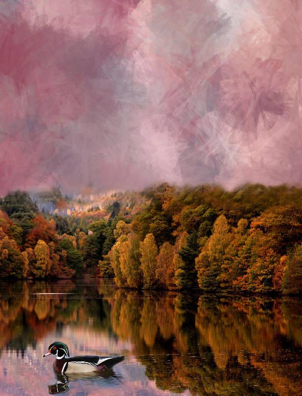 Photo Paintings Art Print featuring the painting Lake Series by Sid Katragadda