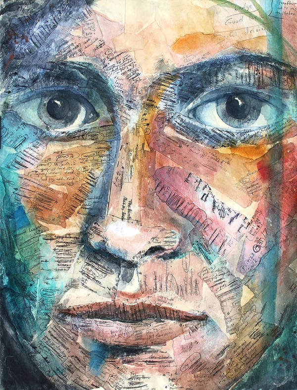 Art Art Print featuring the painting Listperson IIi by Patricia Allingham Carlson