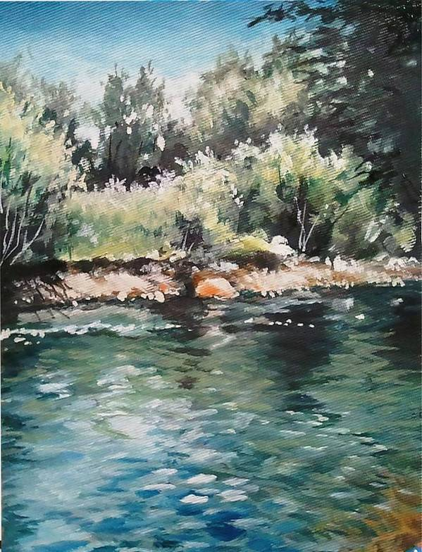 Logan Art Print featuring the painting Logan River by Mike Worthen