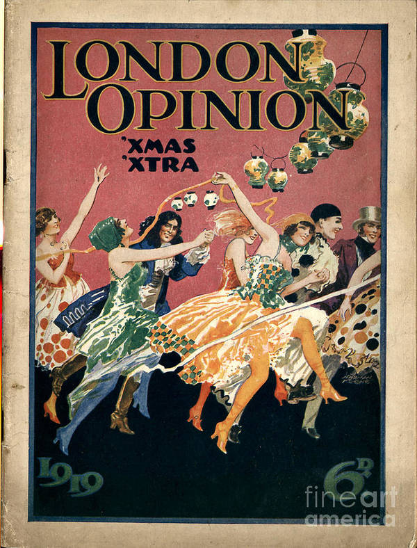Covers Art Print featuring the drawing London Opinion 1919 1910s Uk First by The Advertising Archives