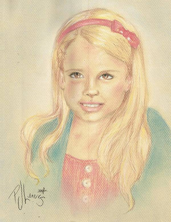 Young Girl Art Print featuring the drawing Miss Coots by PJ Lewis