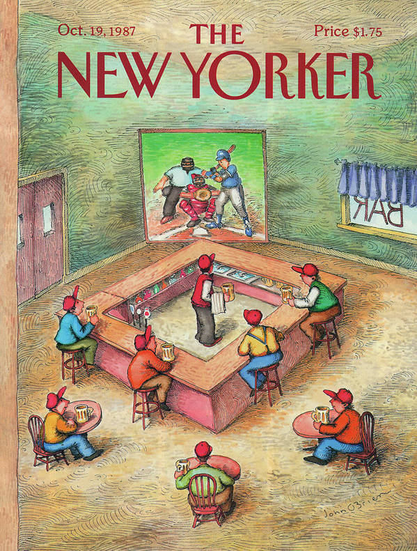 Leisure Art Print featuring the painting New Yorker October 19th, 1987 by John O'Brien