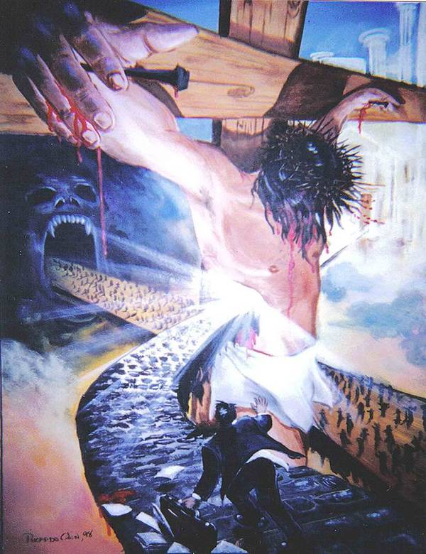 Jesus Art Print featuring the painting One Road by Ricardo Colon