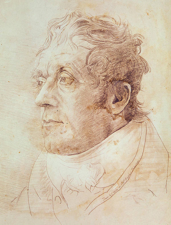 Portrait Of J.m.w. Turner Art Print featuring the drawing Portrait Of Jmw Turner by Cornelius Varley