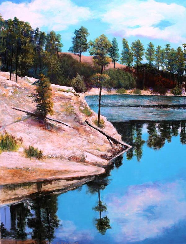 Tucson Art Print featuring the painting Rose Lake Sequel 2 by M Diane Bonaparte
