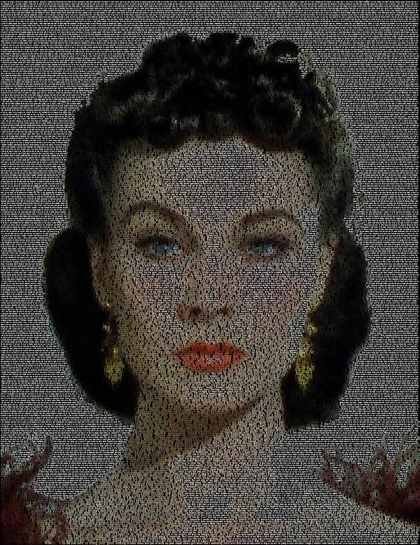 Scarlett Ohara Quotes Mosaic Art Print By Paul Van Scott