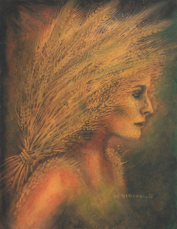 Harvest Art Print featuring the painting Sheaves by Debra Birchell