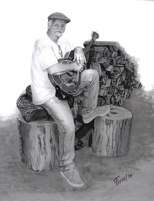 Musician Art Print featuring the painting Sherman Dillon by Ferrel Cordle